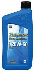 Chevron Supreme Motor Oil SAE 20W50