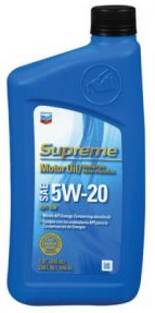 Chevron Supreme Motor Oil SAE 5W20